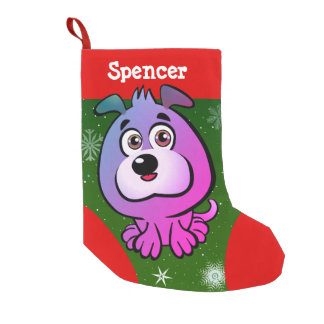 Cute Little Puppy Small Christmas Stocking