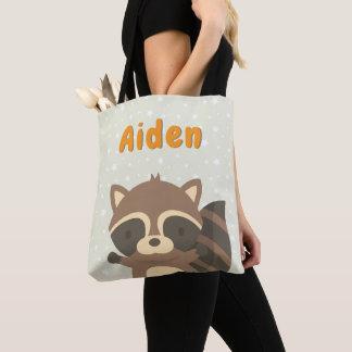 Cute Little Raccoon Woodland Creature Tote Bag