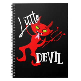 Cute Little Red Devil Funny Graphic Notebook