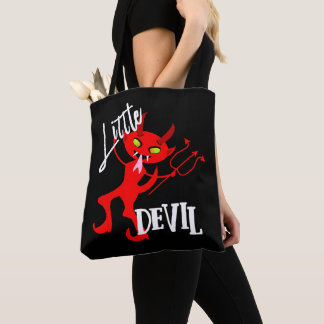 Cute Little Red Devil Funny Graphic Tote Bag