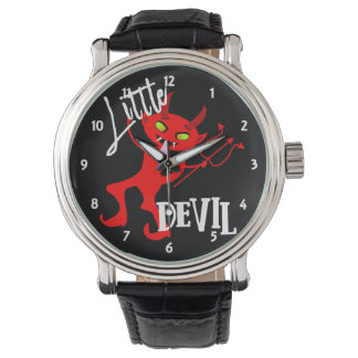 Cute Little Red Devil Funny Graphic Watch