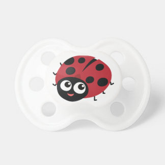 Cute Little Red Ladybug Personalized Baby Pacifier