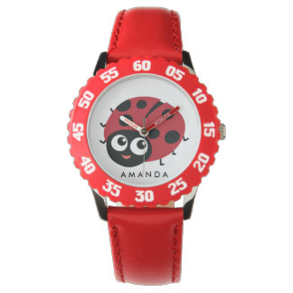 Cute Little Red Ladybug Personalized Watch