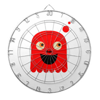 Cute little  Red monster on white Dartboard