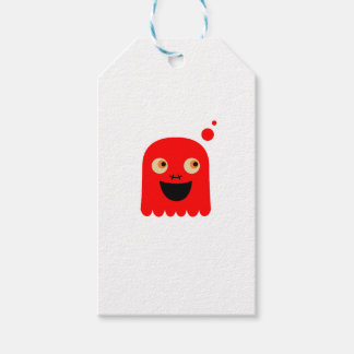 Cute little  Red monster on white Gift Tags
