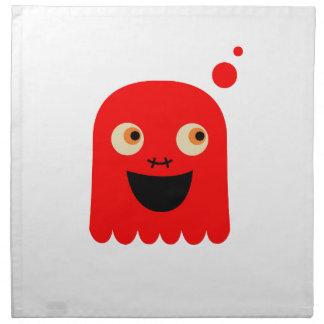 Cute little  Red monster on white Napkin