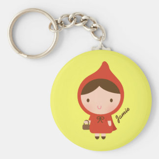 Cute Little Red Riding Hood Fairytale for Girls Key Ring