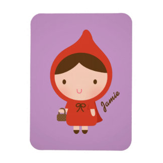 Cute Little Red Riding Hood Fairytale for Girls Rectangular Photo Magnet