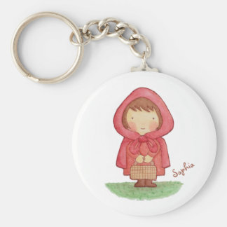 Cute Little Red Riding Hood Storybook Magnet Basic Round Button Key Ring
