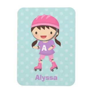 Cute Little Roller Skater Girl For Girls Rectangular Photo Magnet