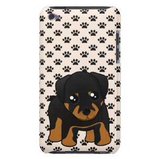 Cute Little Rottweiler Puppy Dog Cartoon Animal Barely There iPod Case
