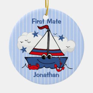 Cute Little Sailboat Christmas Tree Ornament