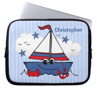 Cute Little Sailboat Laptop Sleeves