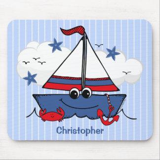 Cute Little Sailboat Mouse Pad