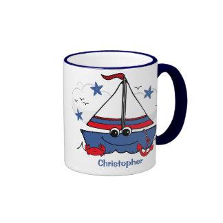 Cute Little Sailboat Coffee Mug