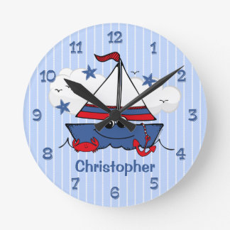 Cute Little Sailboat Wall Clock