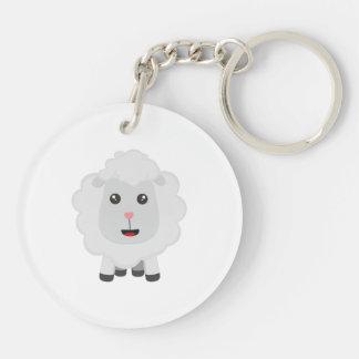 Cute little sheep Z9ny3 Key Ring