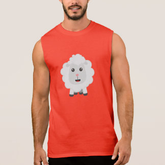 Cute little sheep Z9ny3 Sleeveless Shirt