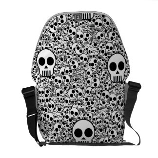 Cute Little skulls Medium Messenger Bag