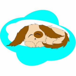 Cute Little Sleepy Puppy Dog Photo Sculpture