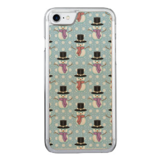 Cute Little Snowmen Pattern Carved iPhone 8/7 Case