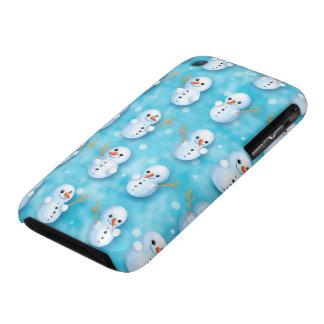 cute little snowmen winter pattern iPhone 3 Case-Mate case