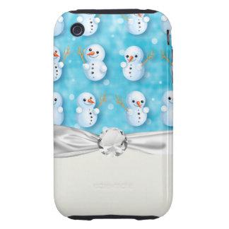 cute little snowmen winter pattern tough iPhone 3 covers
