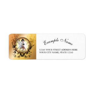 Cute little steampunk fairy return address label