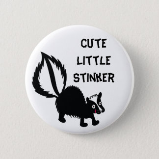 Cute Little Stinker Skunk Print Art Graphic 6 Cm Round Badge