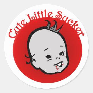 Cute Little Sucker Round Sticker