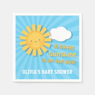 Cute Little Sunshine Baby Shower Supplies Paper Serviettes