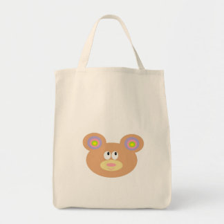 Cute Little Teddy Bear Grocery Tote Grocery Tote Bag