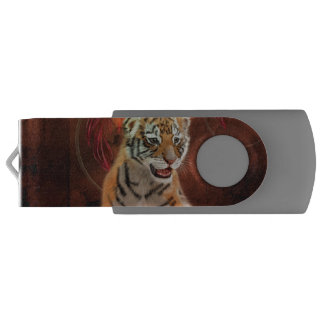 Cute little tiger baby swivel USB 2.0 flash drive
