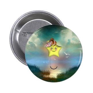 Cute little toon tot baby fairys 1 6 cm round badge
