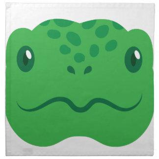 cute little tortoise turtle face napkin