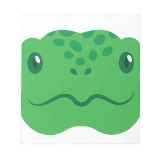 cute little tortoise turtle face notepad