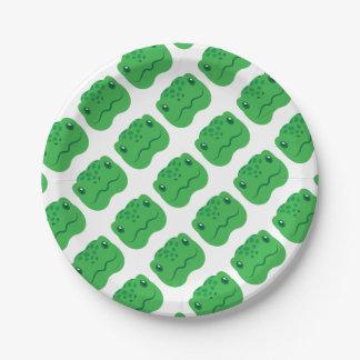 cute little tortoise turtle face paper plate
