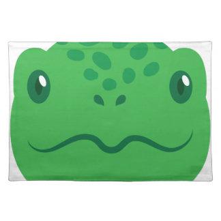 cute little tortoise turtle face placemat