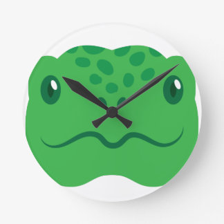cute little tortoise turtle face round clock