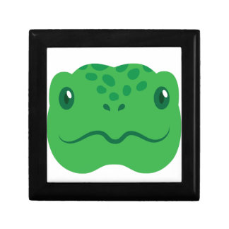 cute little tortoise turtle face small square gift box