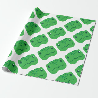 cute little tortoise turtle face wrapping paper