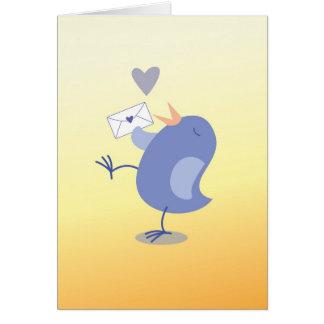 Cute little Tweeter Bird with a letter! Card