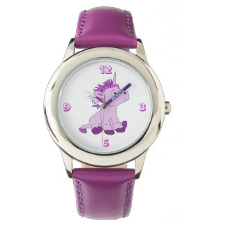 Cute Little Unicorn with Pink Violet mane Watch