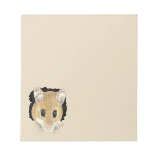 Cute Little Watercolor Pet Pocket Mouse Animal Art Notepad