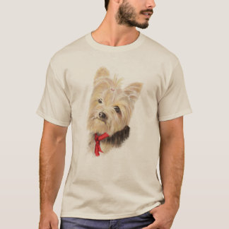 Cute Little Watercolor Yorkie Yorkshire Terrier T-Shirt