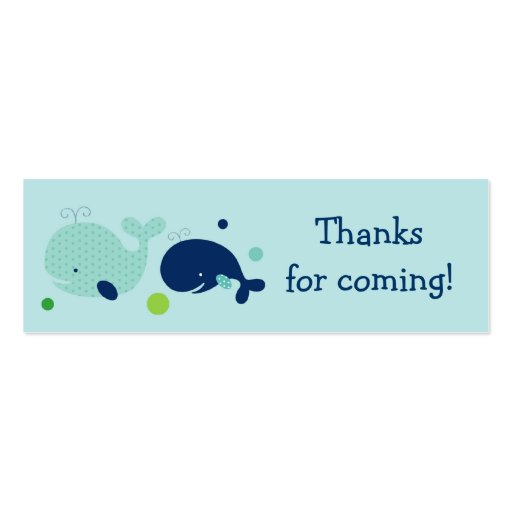 Cute Little Whale Nautical Favour Gift Tags Pack Of Skinny Business Cards