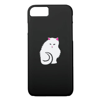 Cute Little White and Fluffy Kitty Cat iPhone 7 Case
