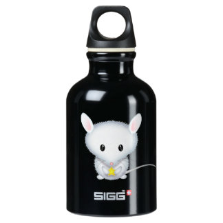 Cute Little White Mouse with Star SIGG Traveller 0.3L Water Bottle