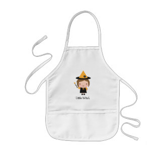 Cute Little Witch Not So Scary Halloween Kids' Apron