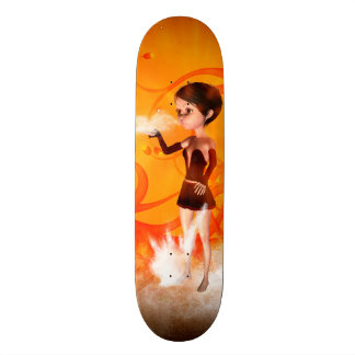 Cute little witch skate board decks